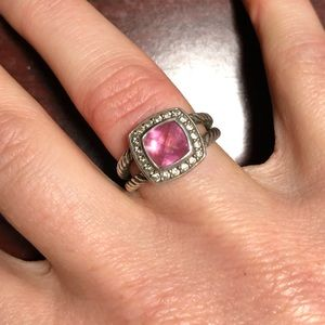 BUBBLEGUM PINK! David Yurman Petite Albion ring!